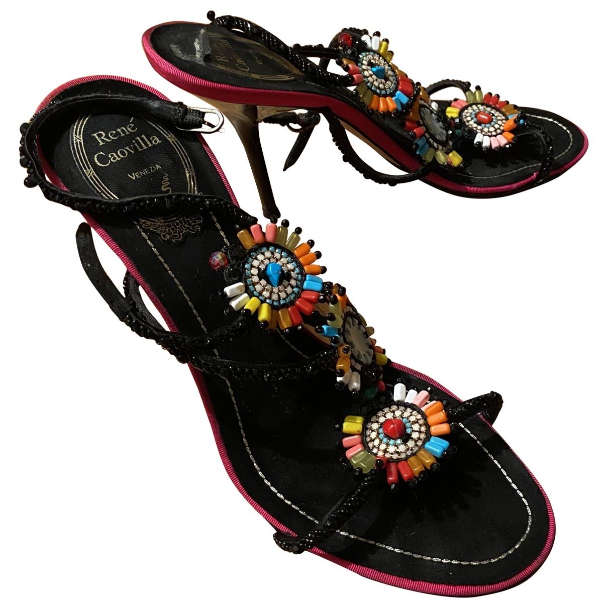 Sandalias de Lona Rene Caovilla