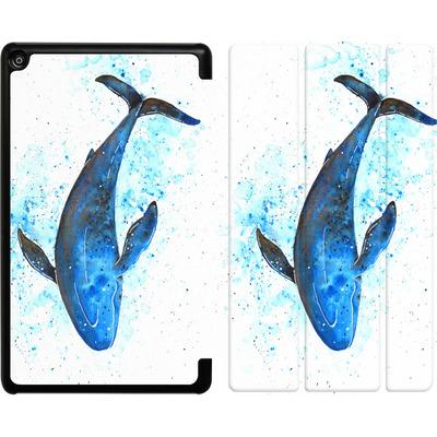Amazon Fire HD 8 (2018) Tablet Smart Case - Whale Dive von Becky Starsmore