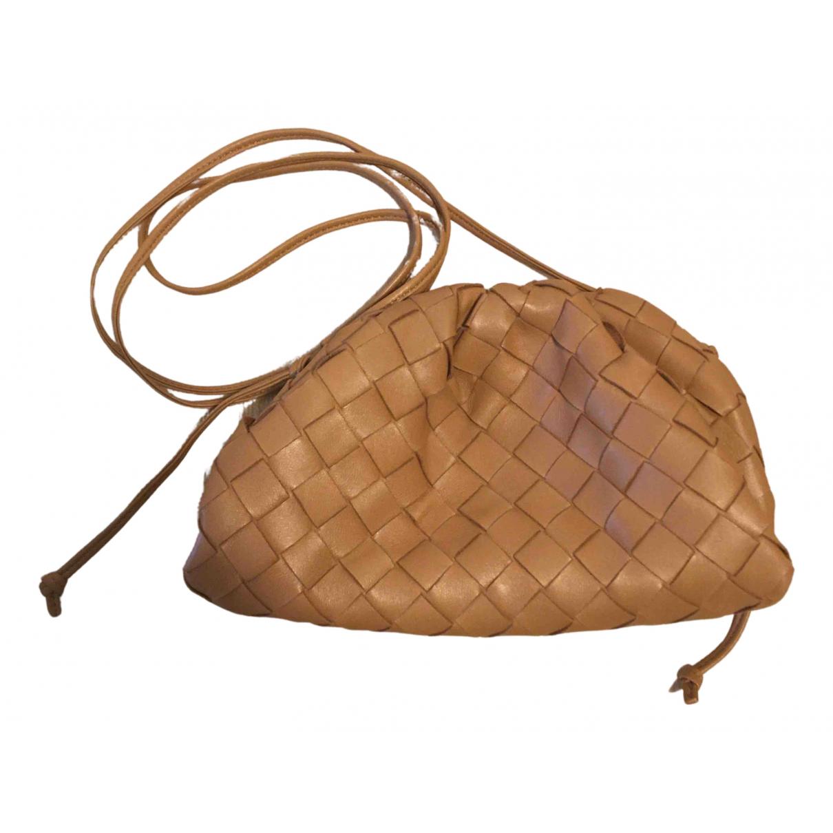 Bottega Veneta Pouch Camel Leather handbag for Women N
