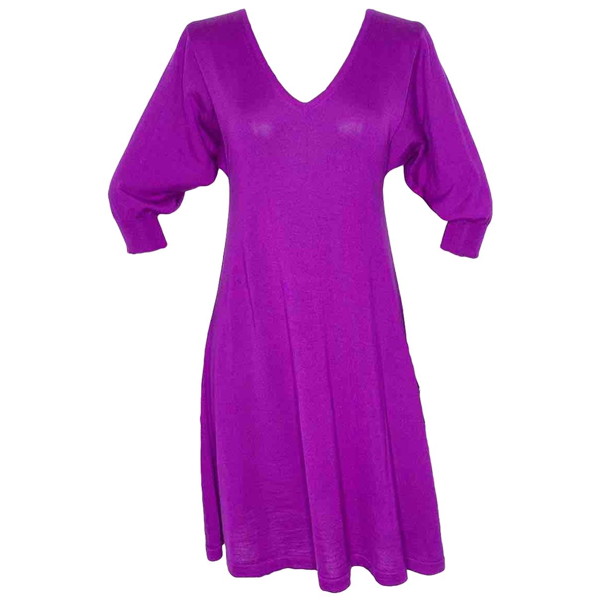 Balenciaga \N Kleid in  Lila Kaschmir