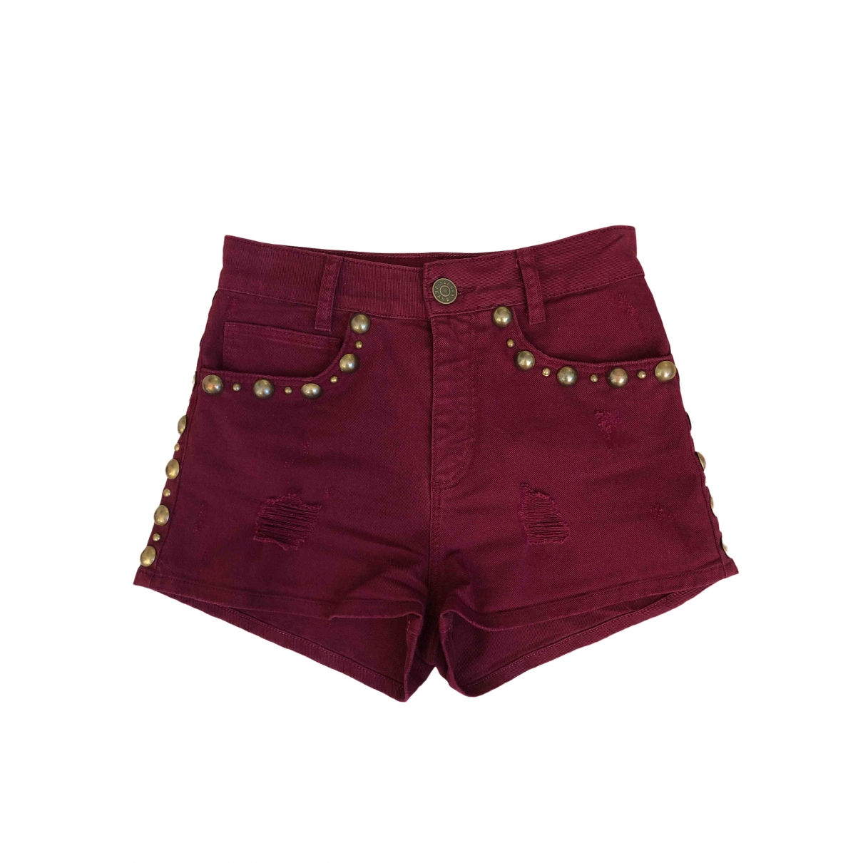 Sandro \N Burgundy Denim - Jeans Shorts for Women 36 FR