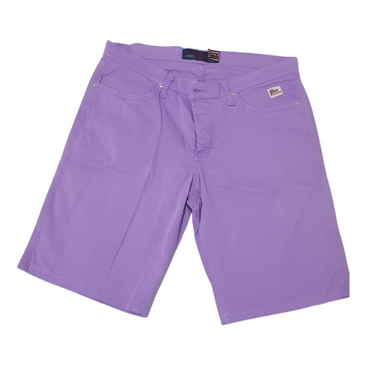 Roy Roger's N Purple Cotton Shorts for Men 46 IT