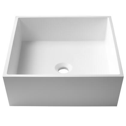 KSV-5MW Natura Square Vessel Composite Bathroom Sink with Matte Finish and Nano Coating in
