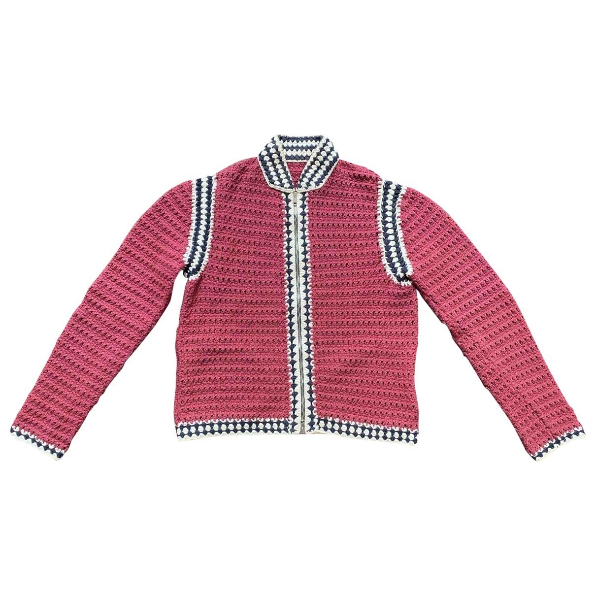 Non Signé / Unsigned \N Burgundy Cotton jacket  for Men M International