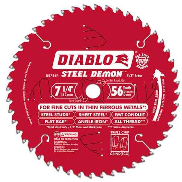 D0756F Diablo Steel Demon Ferrous Cutting Blade, 7-1/4