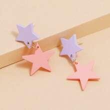 Star Design Dangle Earrings