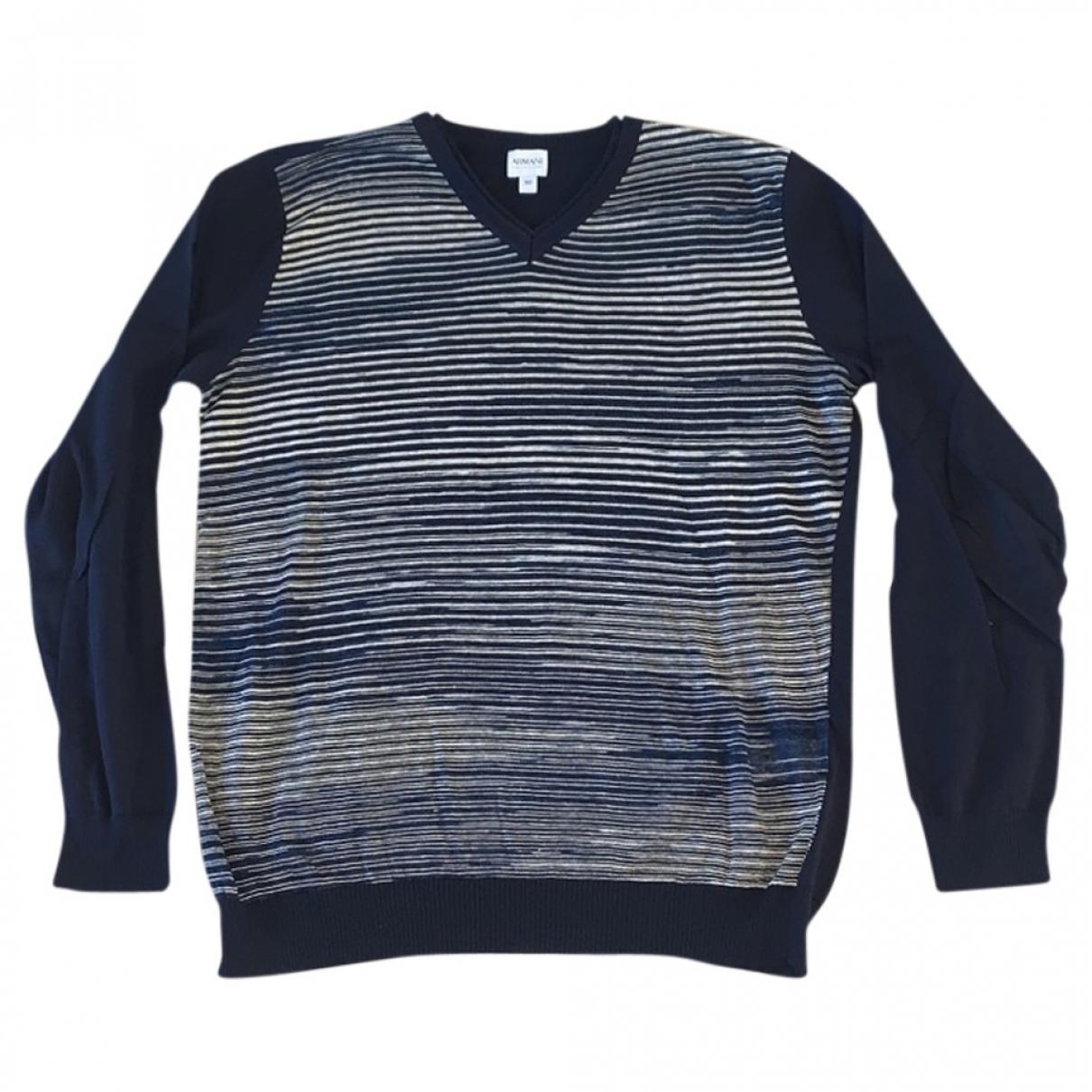 Armani Collezioni \N Pullover.Westen.Sweatshirts  in  Marine Baumwolle