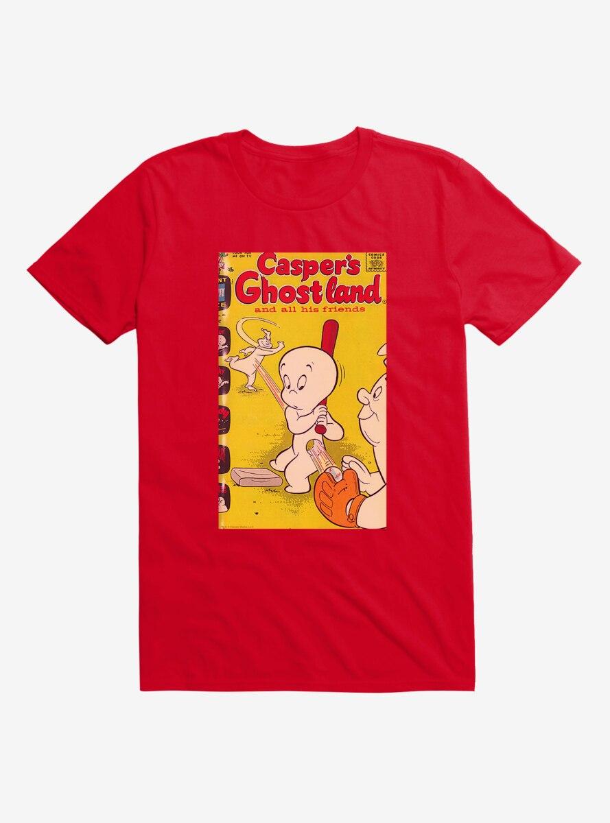 Casper The Friendly Ghost Ghostland And Friends Baseball T-Shirt