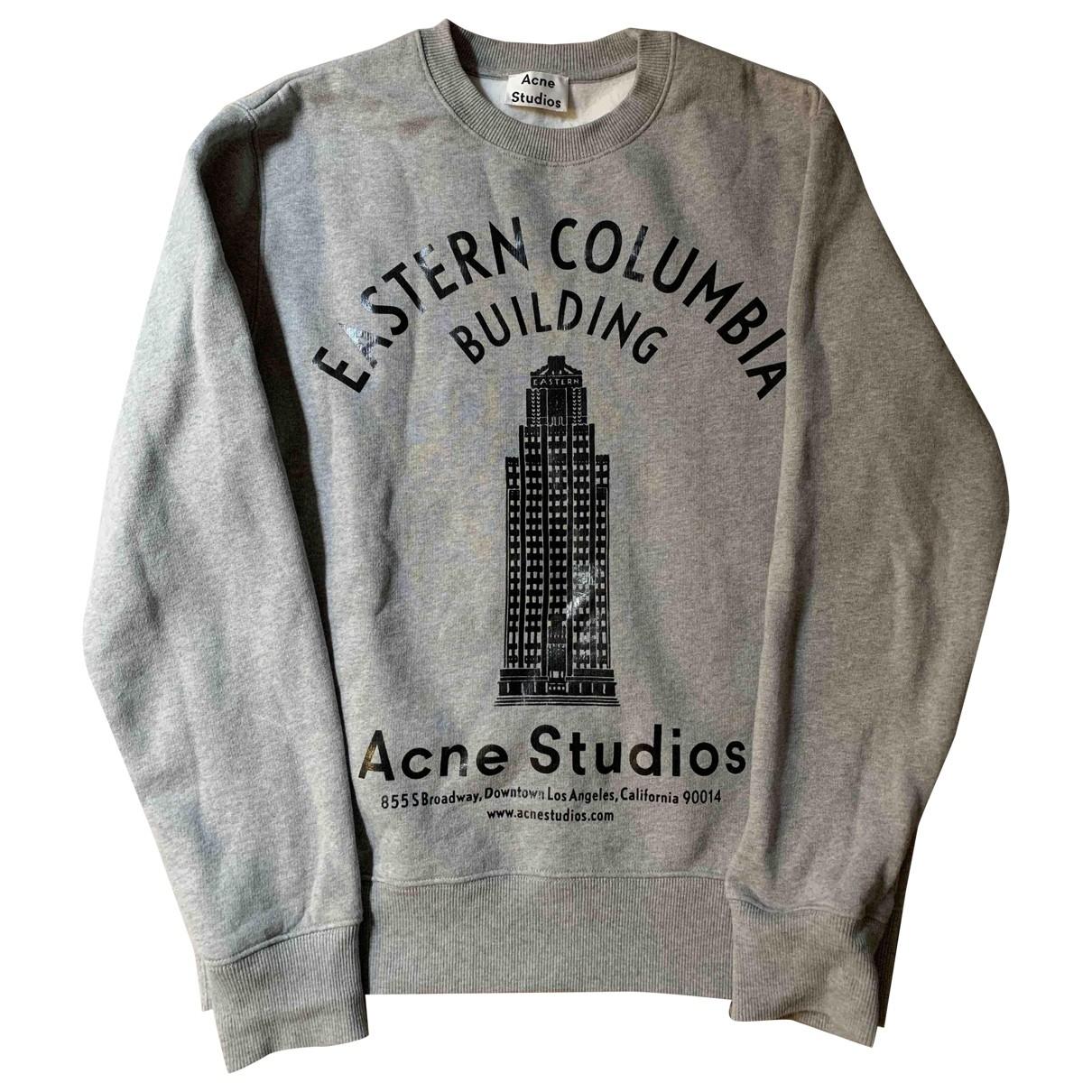 Acne Studios \N Pullover.Westen.Sweatshirts  in  Grau Baumwolle