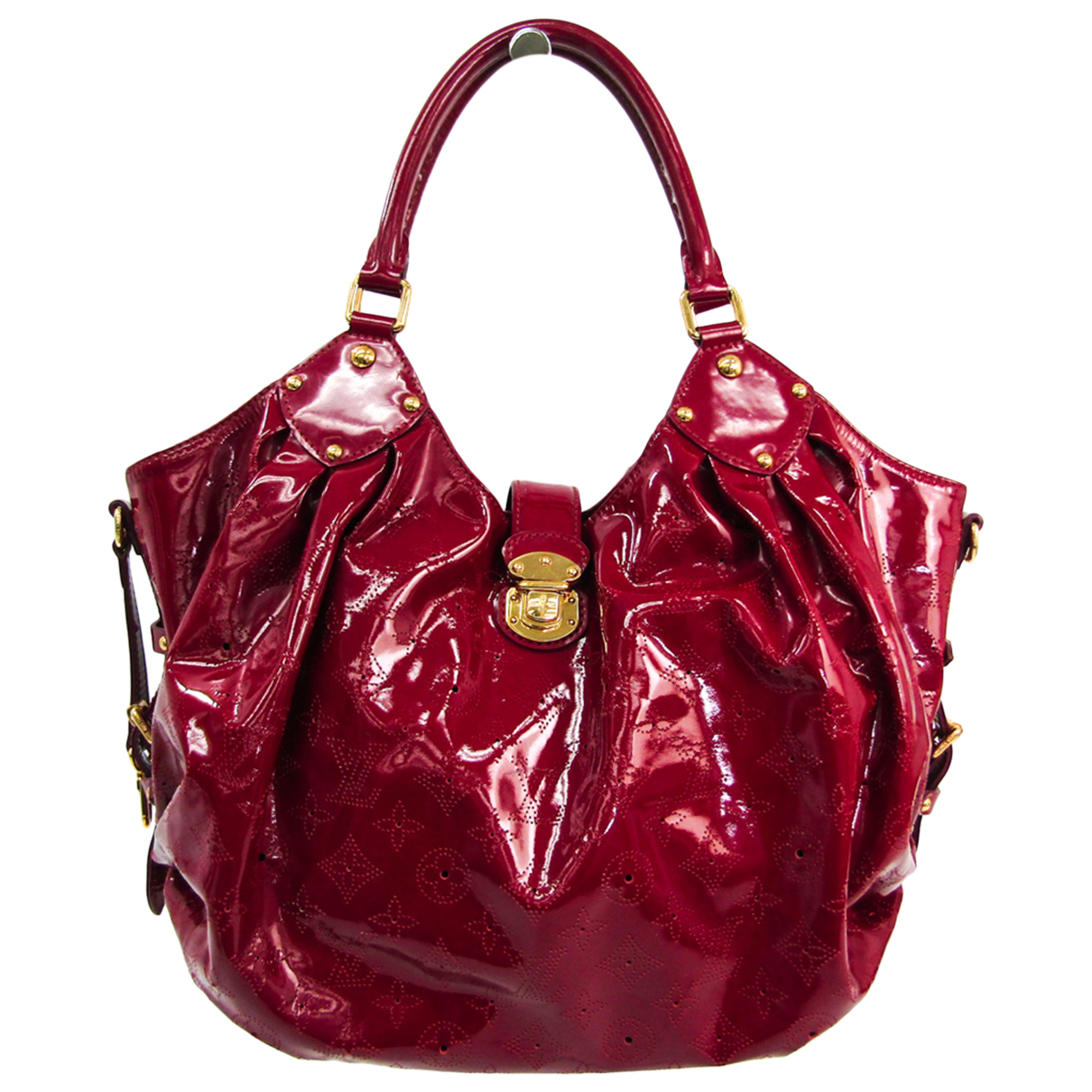 Louis Vuitton - Sac a main Mahina pour femme en cuir verni - rose