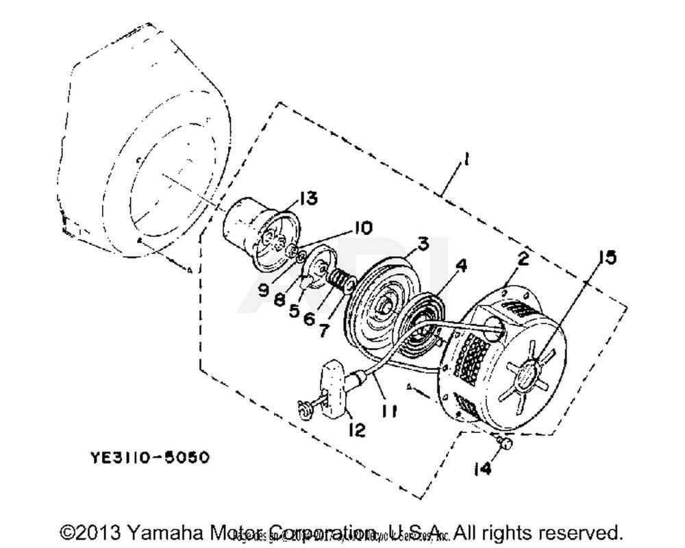Yamaha OEM YF1-39014-13-50 FILTER,FUEL