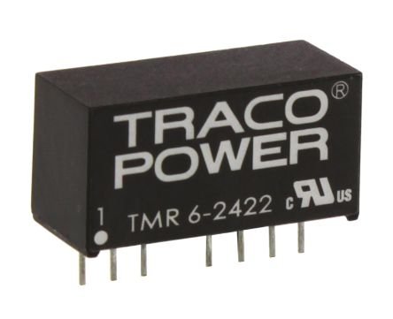 TRACOPOWER TMR 6 6W Isolated DC-DC Converter Through Hole, Voltage in 18 → 36 V dc, Voltage out ±12V dc