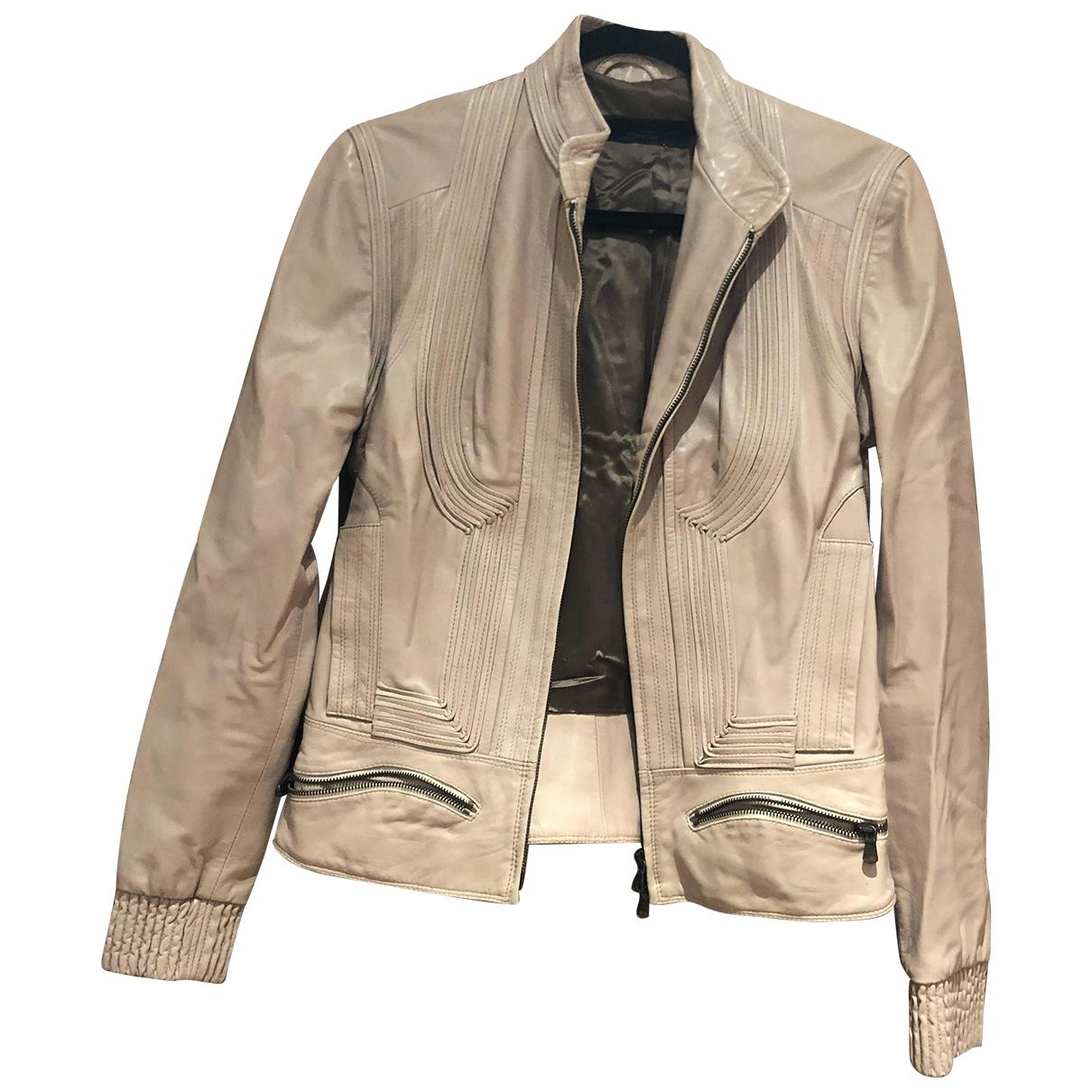 Sophia Kokosalaki \N Pink Leather Leather jacket for Women 38 FR
