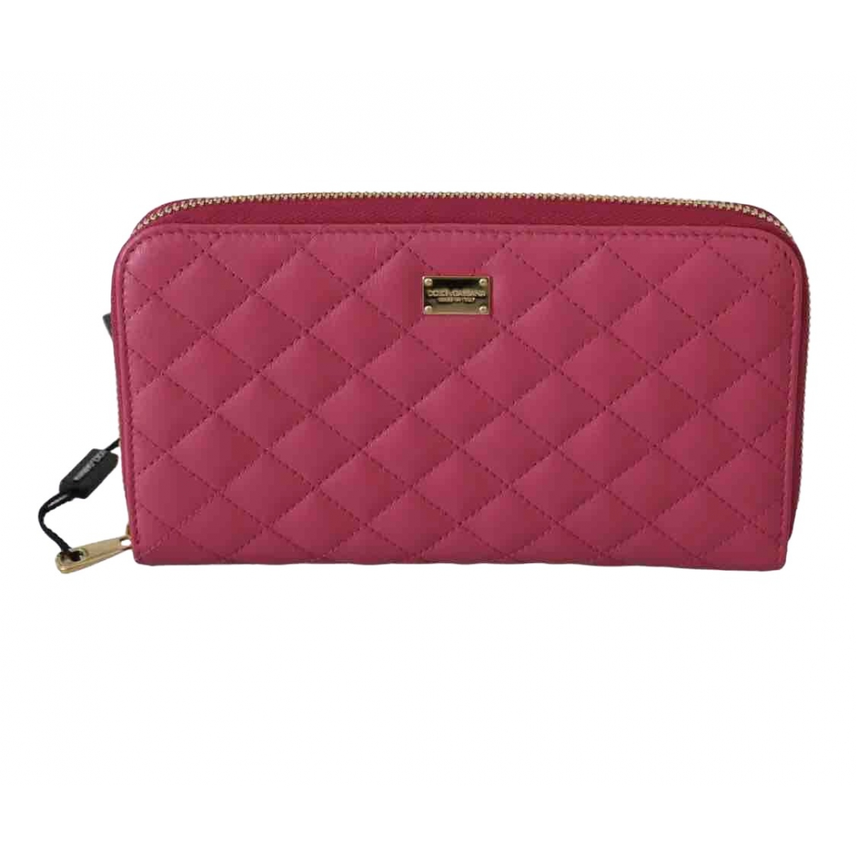 Dolce & Gabbana \N Pink Leather wallet for Women \N