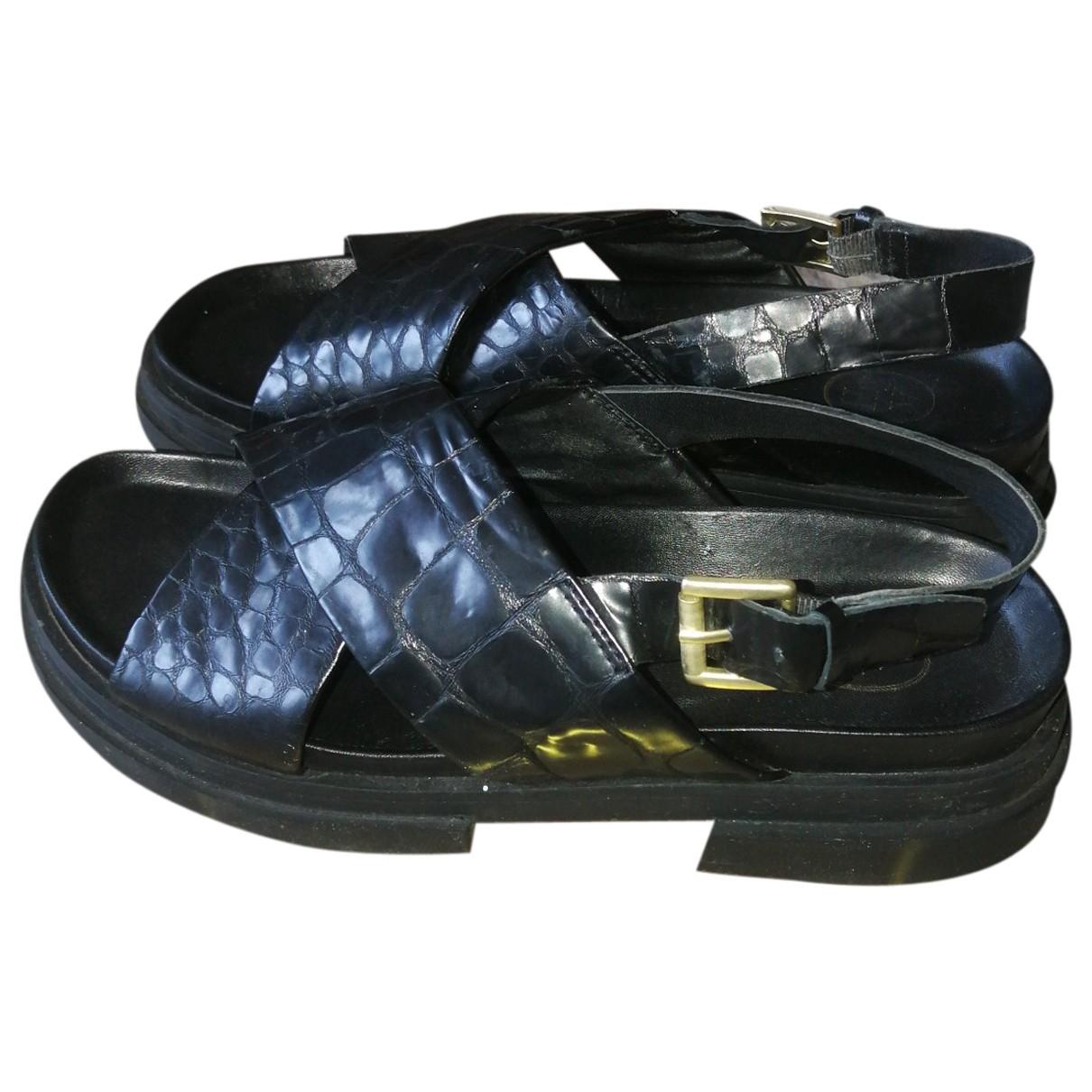Ash \N Sandalen in  Schwarz Leder