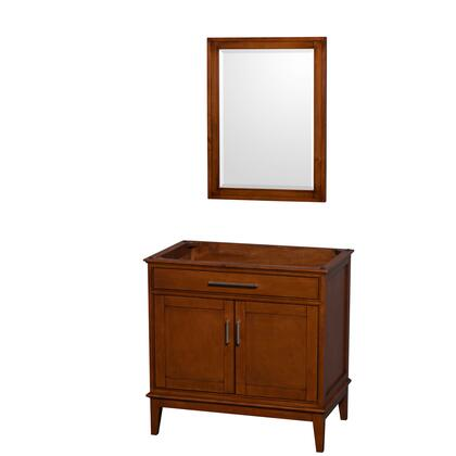 WCV161636SCLCXSXXM24 36 in. Single Bathroom Vanity in Light Chestnut  No Countertop  No Sink  and 24 in.