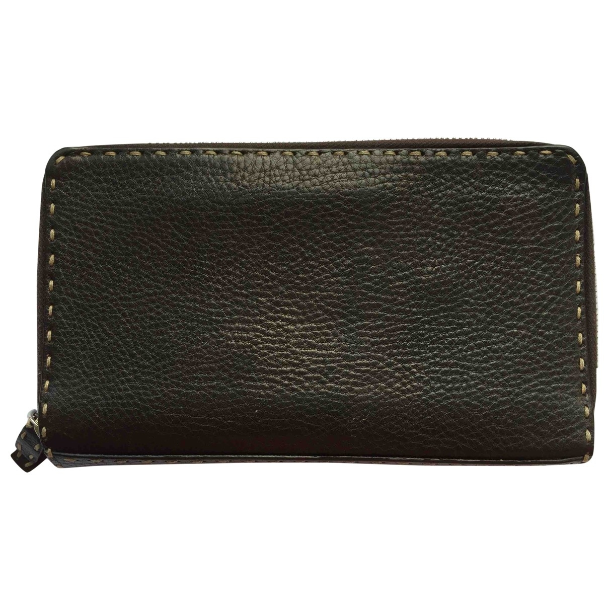 Fendi \N Brown Leather wallet for Women \N