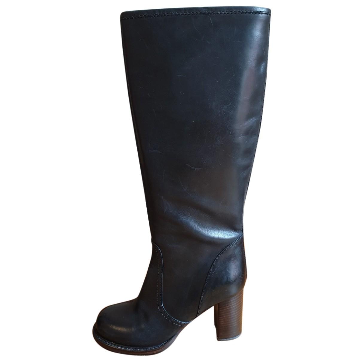 Eclat \N Stiefel in  Schwarz Leder
