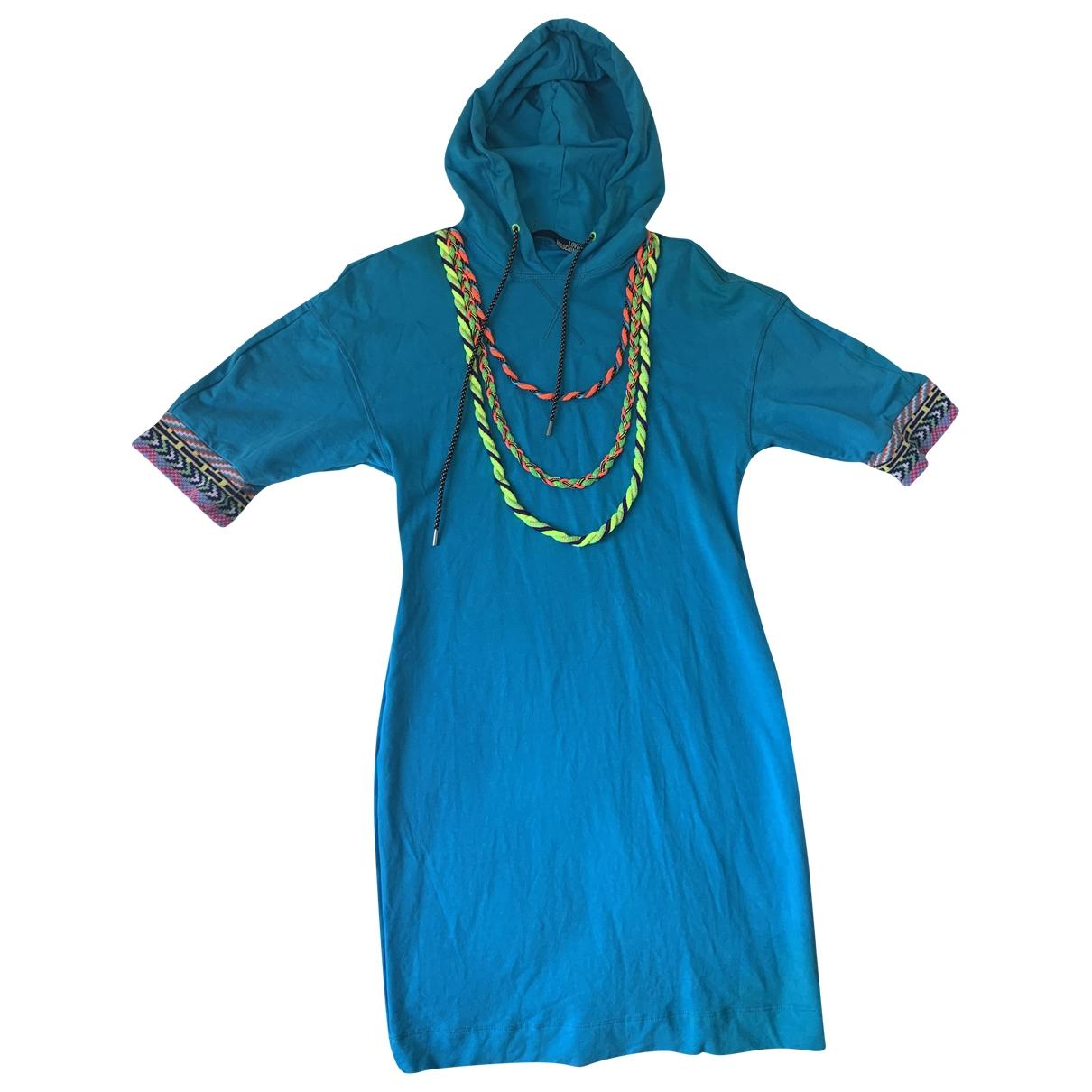 Moschino Love \N Kleid in  Blau Baumwolle - Elasthan