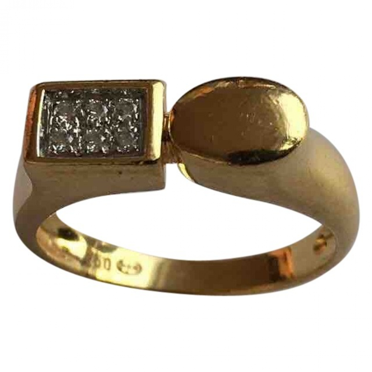 Non Signe / Unsigned Toi & Moi Ring in  Gelb Gelbgold