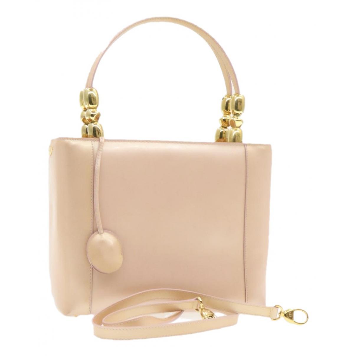 Dior - Sac a main   pour femme en cuir verni - rose