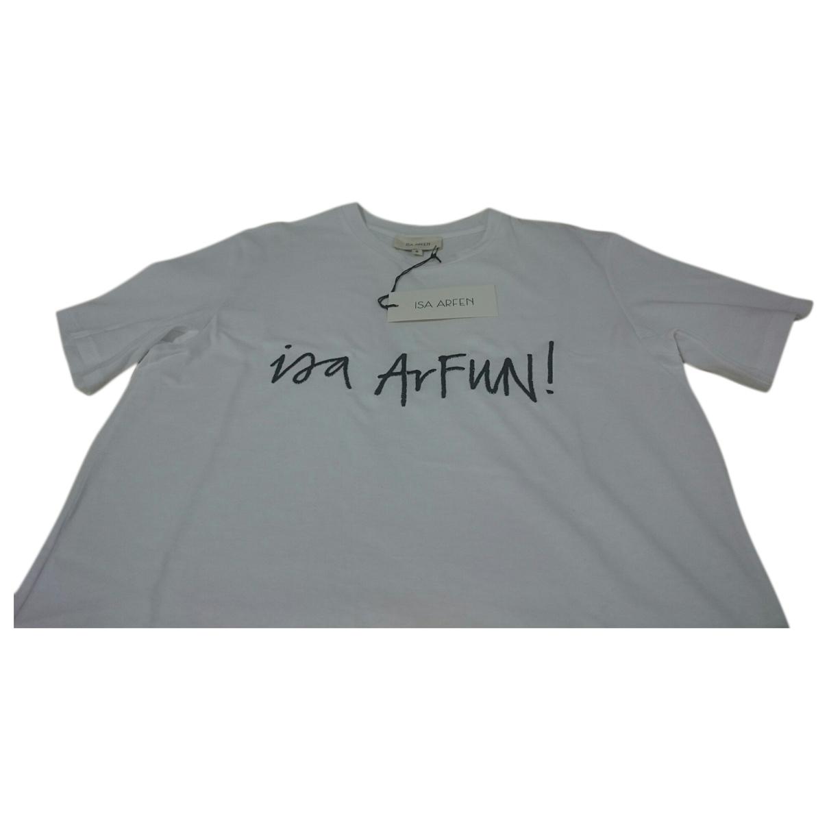 Isa Arfen - Top   pour femme en coton - blanc