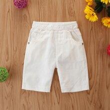 Kleinkind Jungen Shorts mit schraegen Taschen