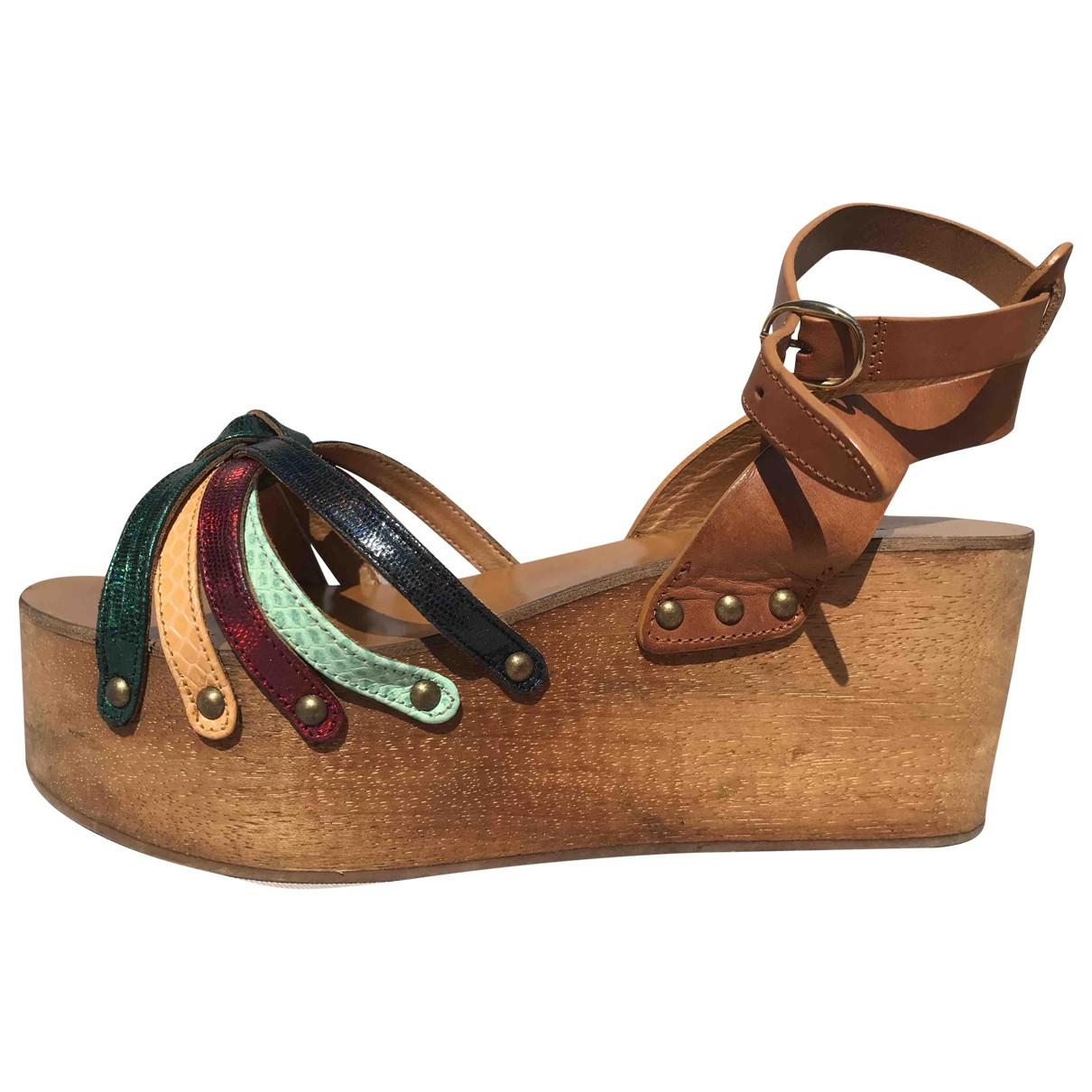 Isabel Marant - Sandales   pour femme en cuir - multicolore