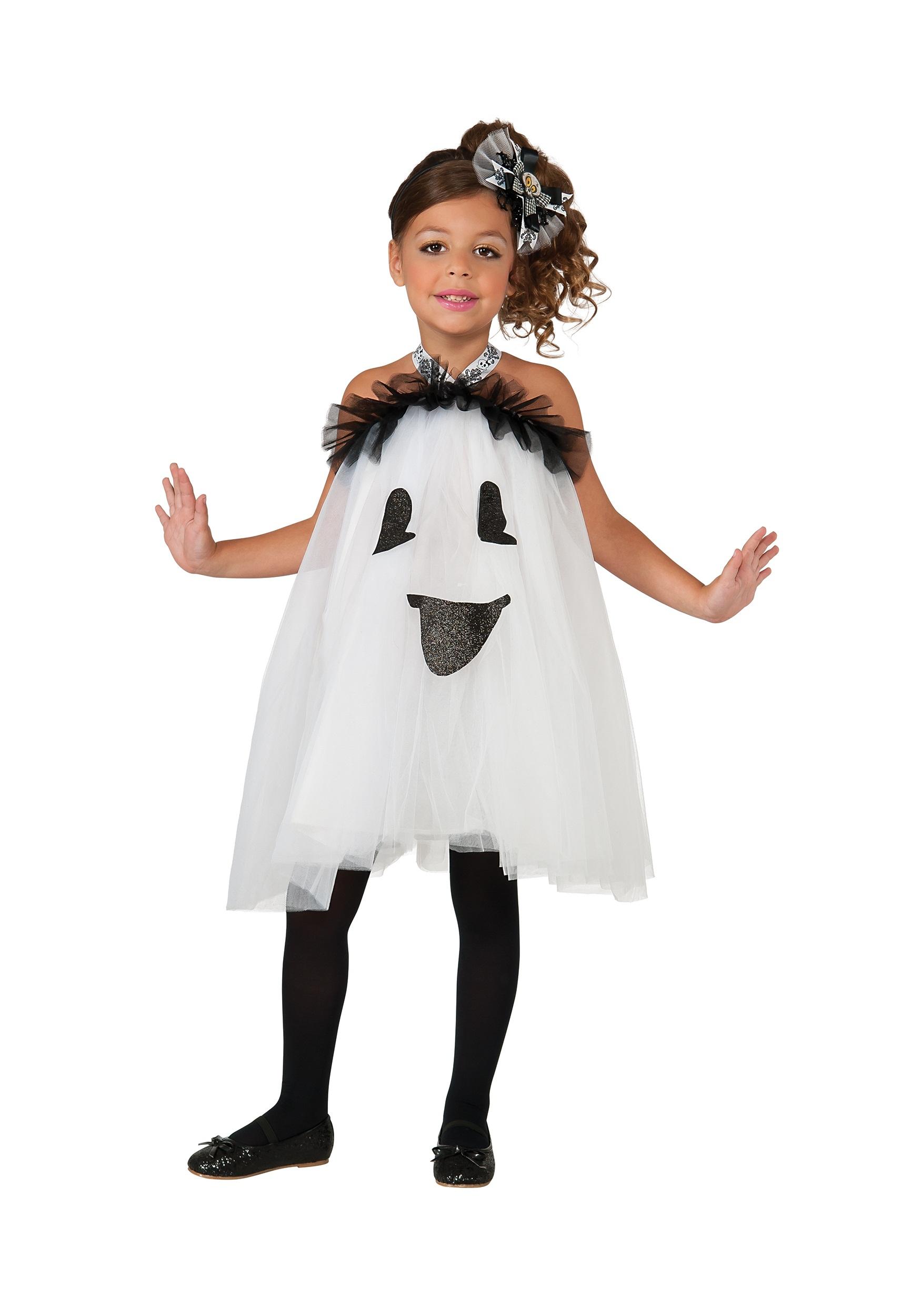 Girls Ghost Tutu Costume Dress