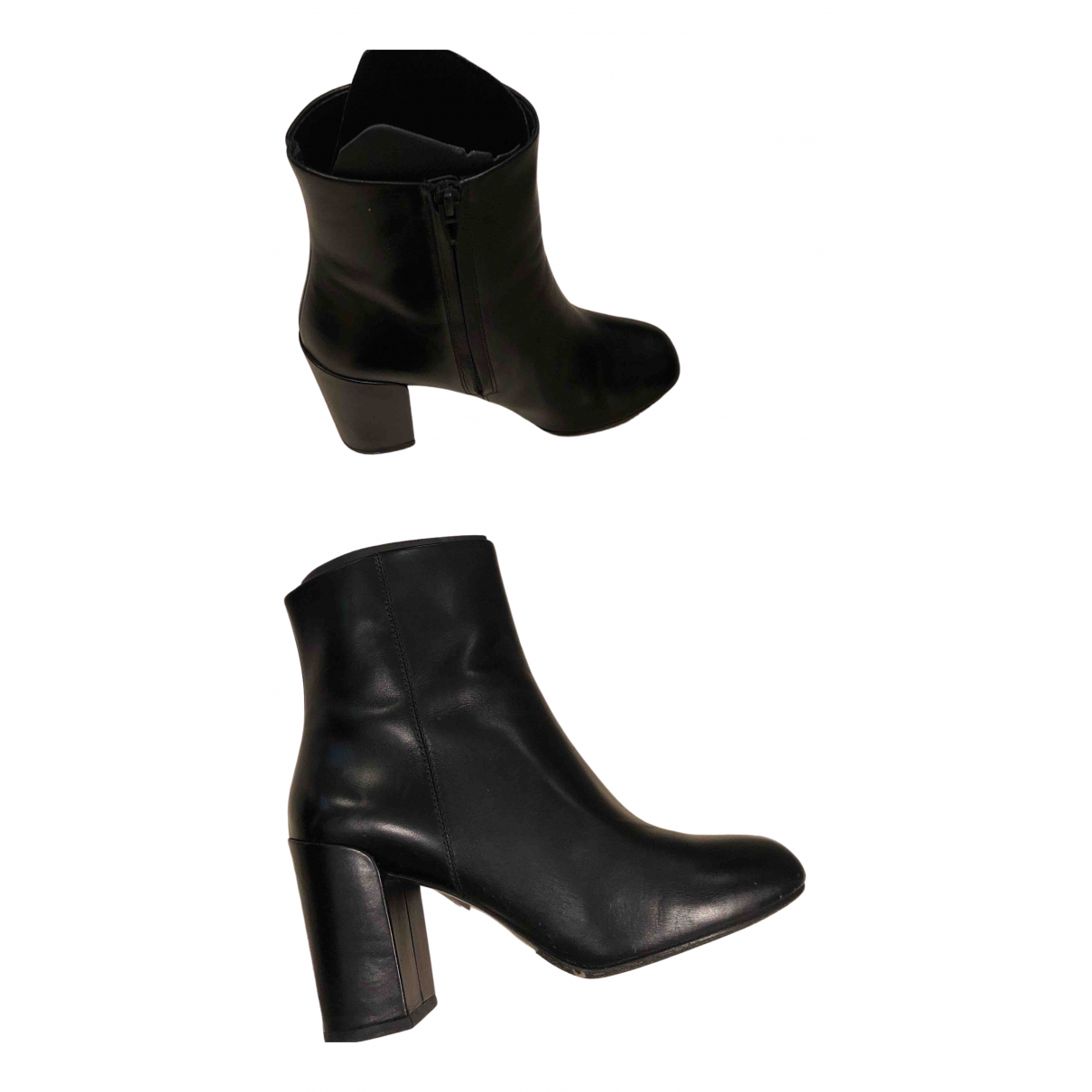 Alexander Wang N Black Leather Ankle boots for Women 39 EU