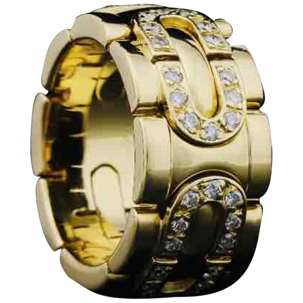 Cartier - Bague Maillon Panthere pour femme en or jaune - dore