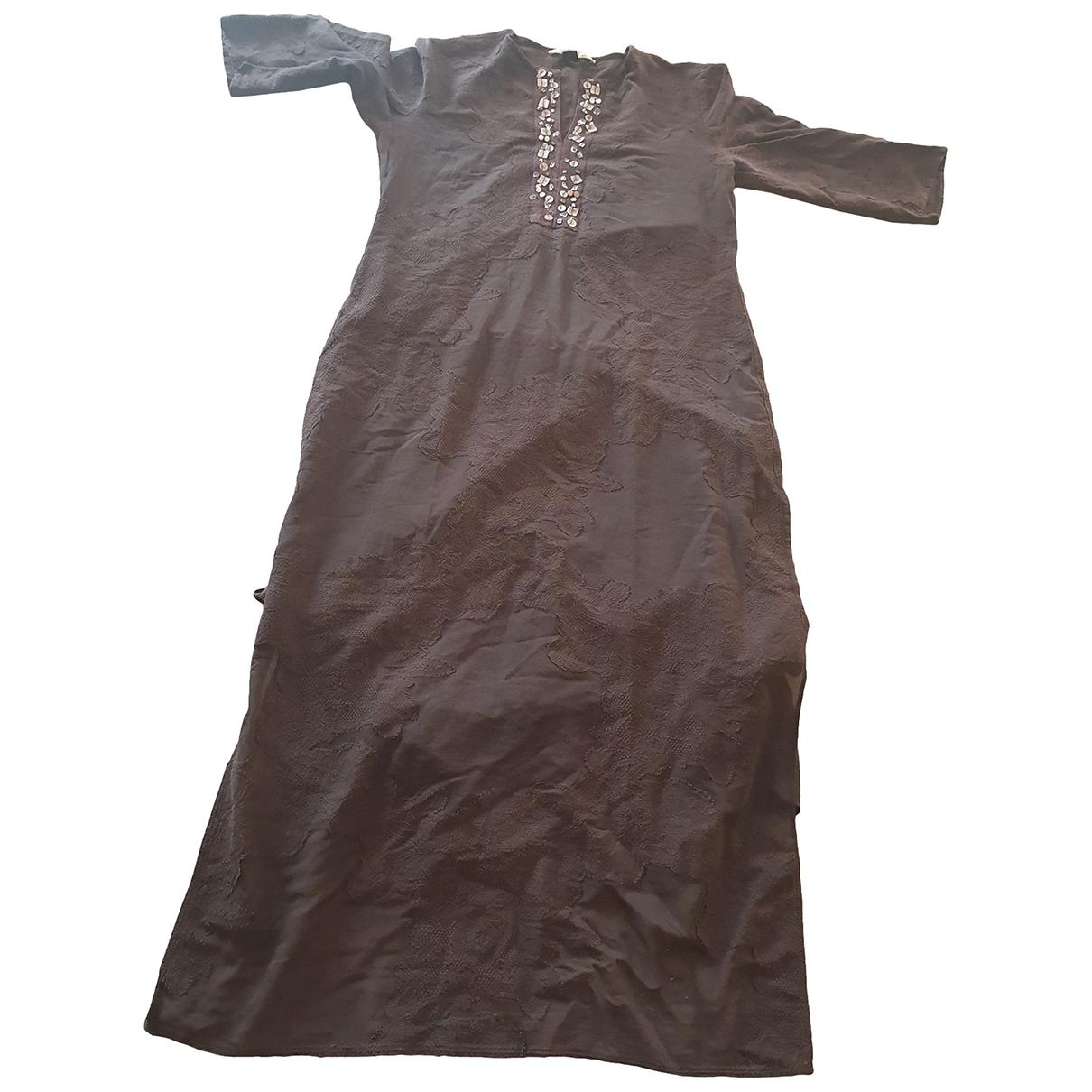 Class Cavalli \N Kleid in  Braun Baumwolle