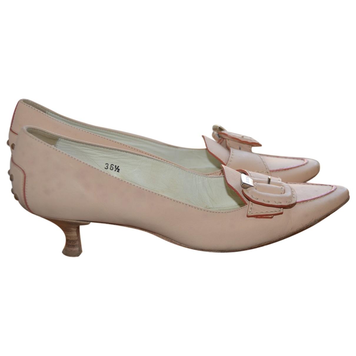 Tod's \N Beige Suede Heels for Women 36.5 IT