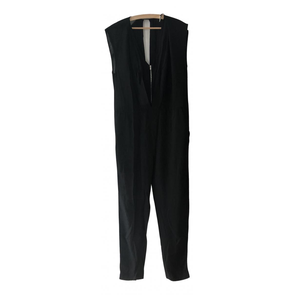 Sandro - Combinaison   pour femme en coton - noir