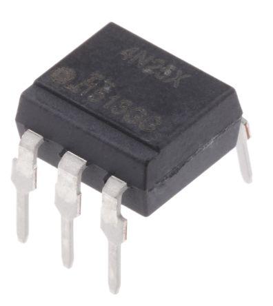 Isocom , 4N25X DC Input Transistor Output Optocoupler, Through Hole, 6-Pin PDIP (10)