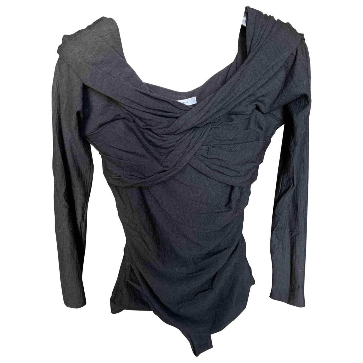 Carven \N Black Wool  top for Women 40 FR