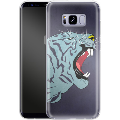 Samsung Galaxy S8 Plus Silikon Handyhuelle - Tattoo Tiger von Mark Ashkenazi
