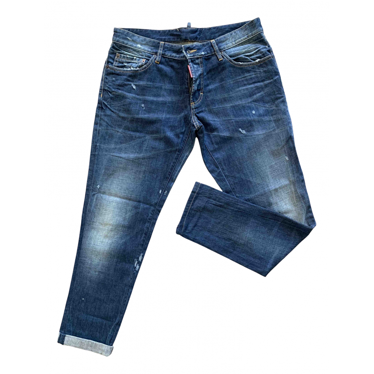 Dsquared2 N Blue Cotton Jeans for Men 46 FR