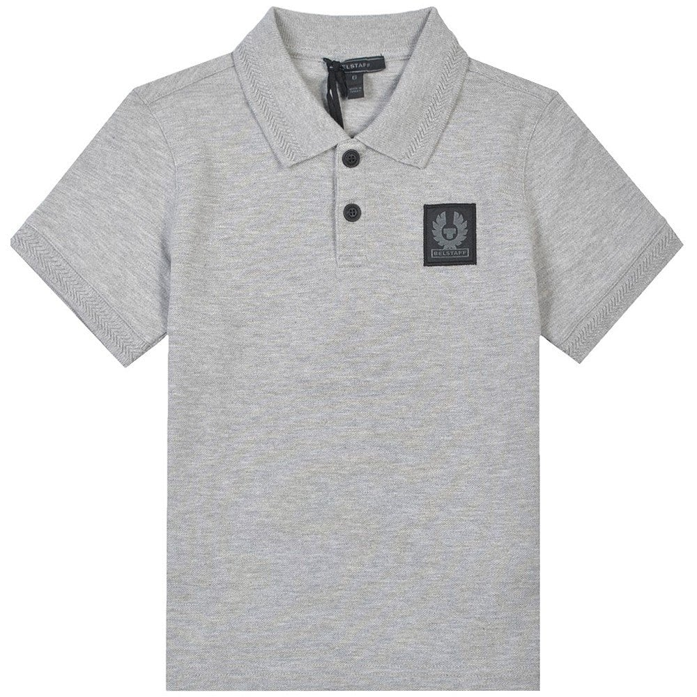 Belstaff Kids Stannett Polo Shirt Colour: GREY, Size: 12 YEARS