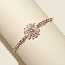 Armband mit Strass und Blumen Dekor