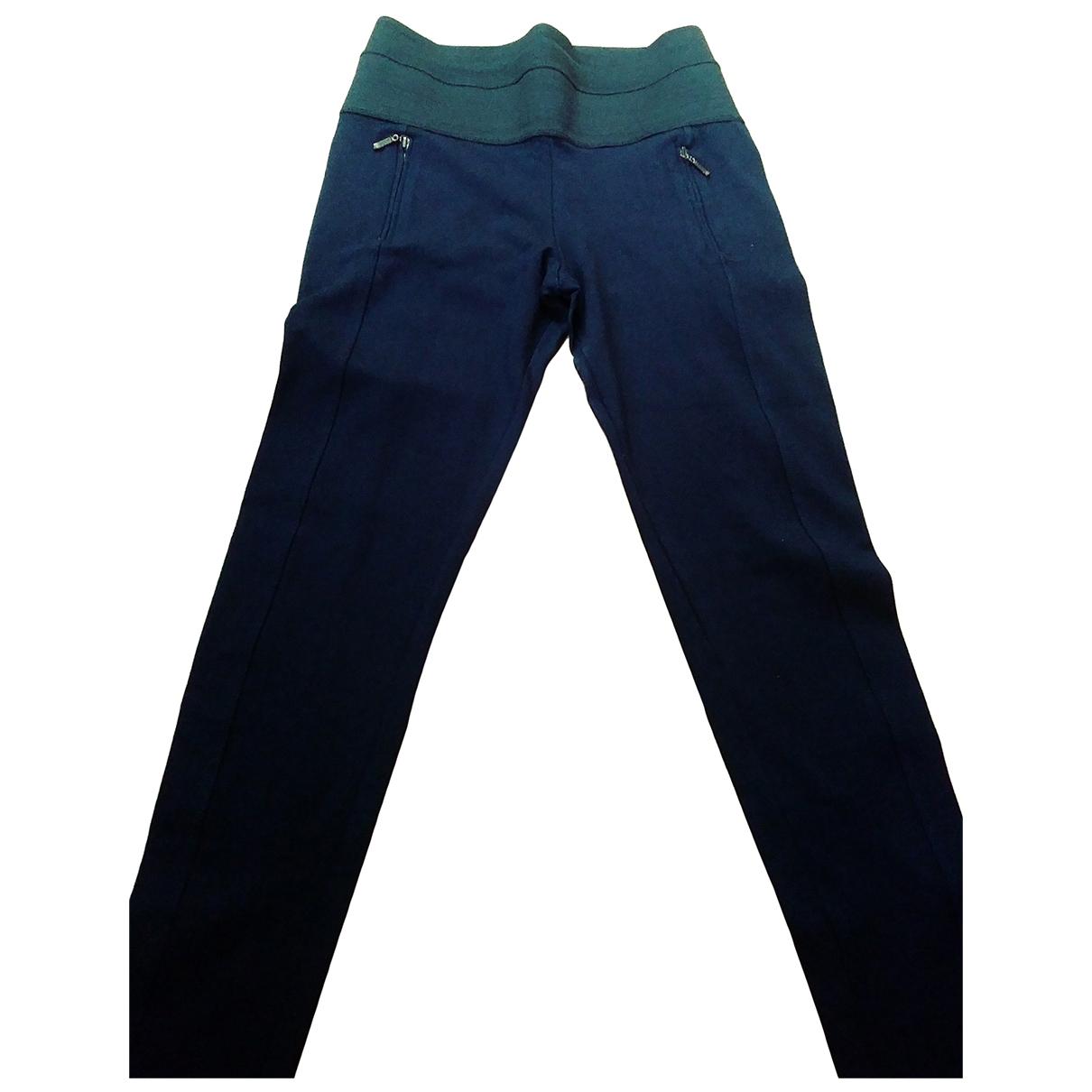 Zara - Pantalon   pour femme en coton - bleu