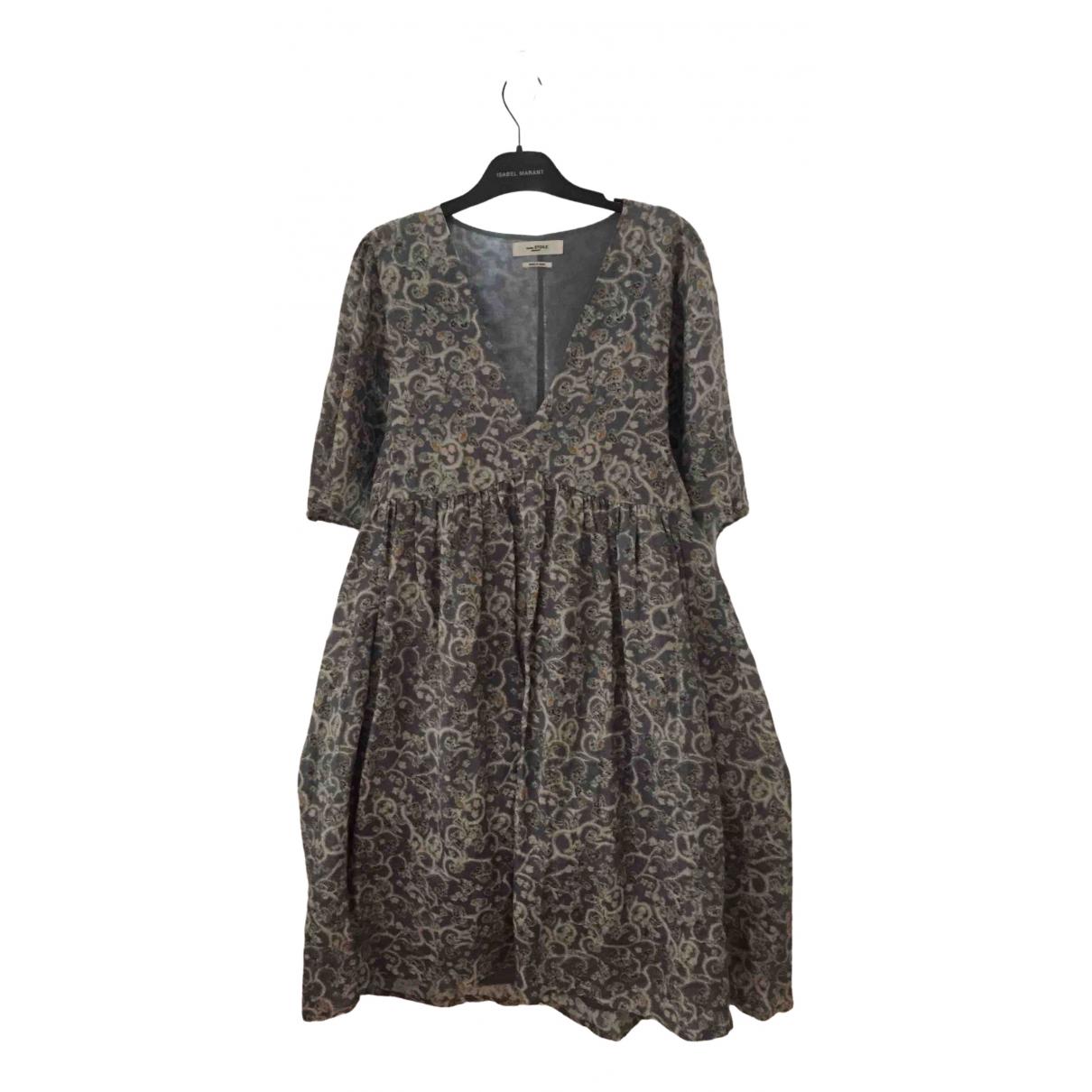 Isabel Marant Etoile \N Blue Linen dress for Women 34 FR