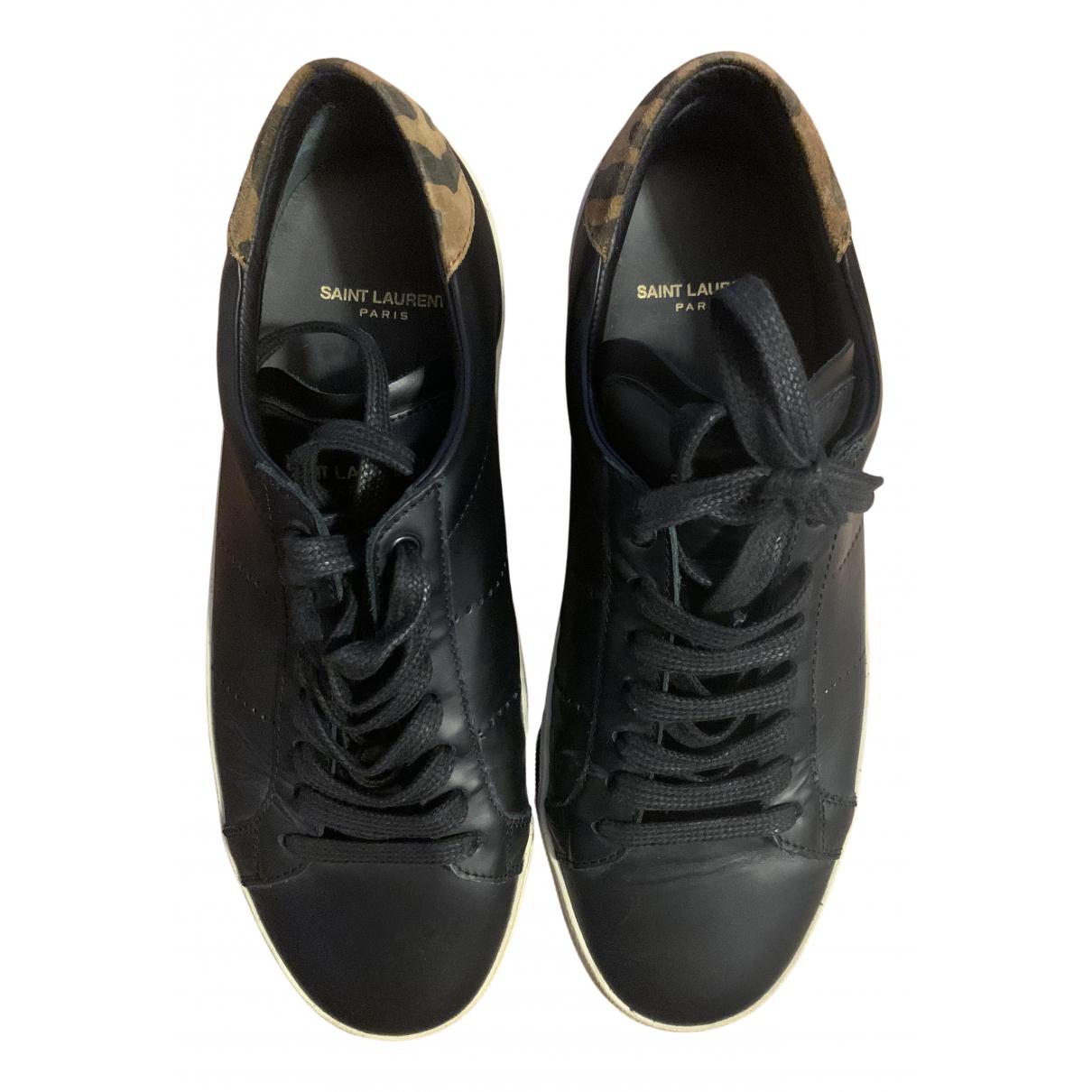 Saint Laurent SL/06 Sneakers in  Schwarz Leder