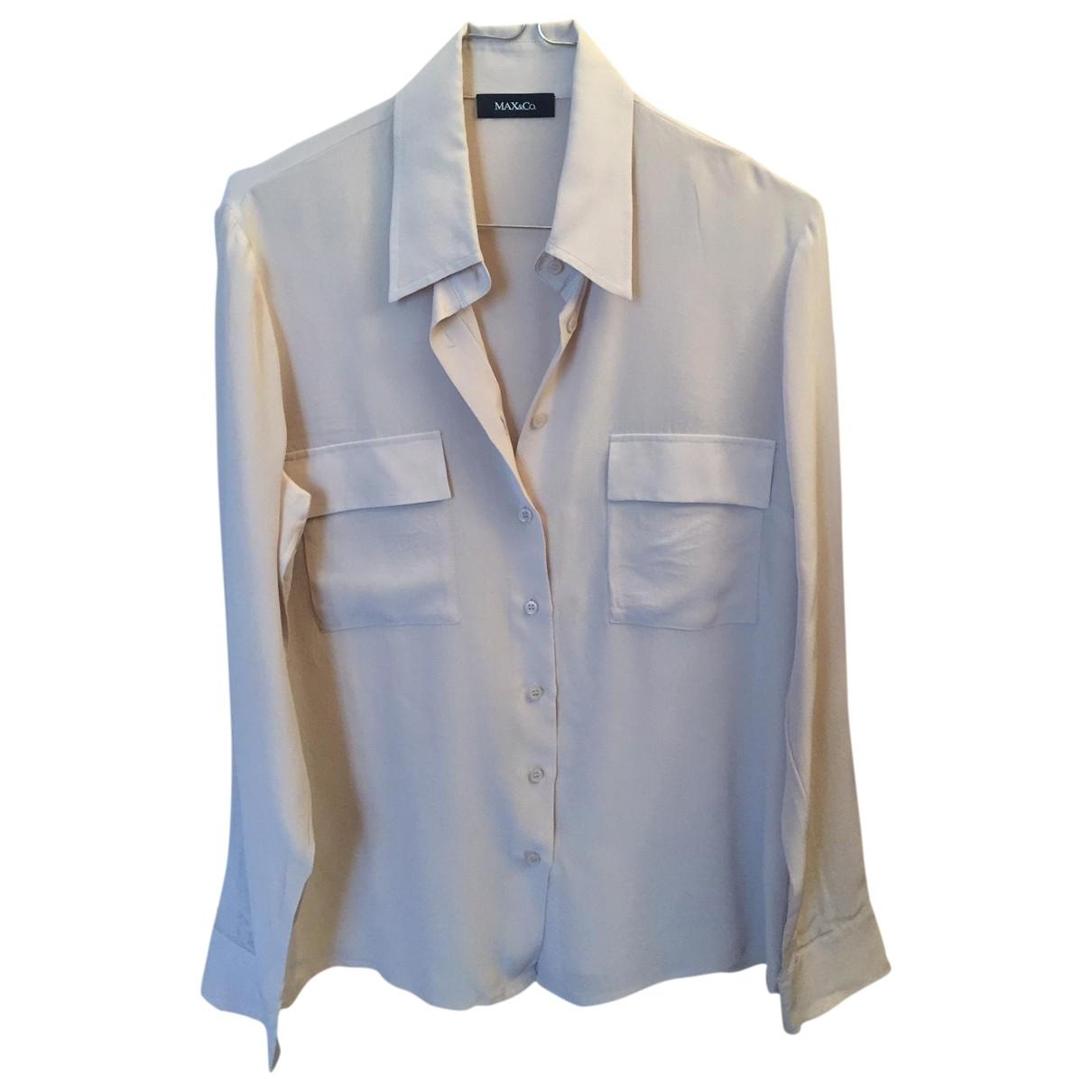 Max & Co \N Beige Silk  top for Women 40 IT