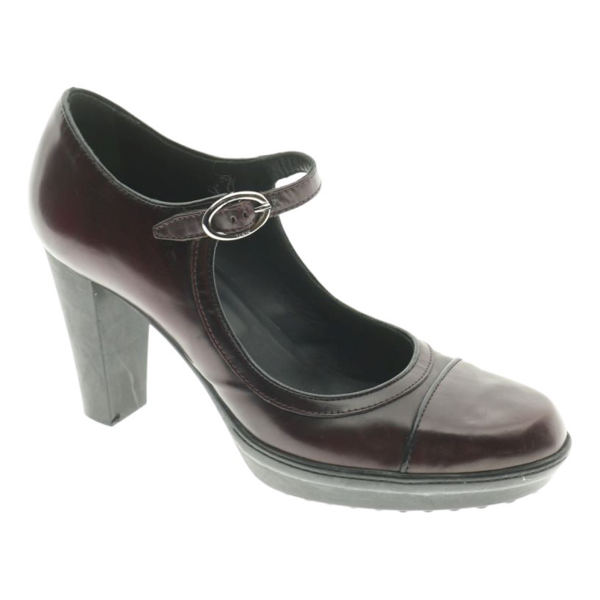 Tod's N Brown Leather Heels for Women 39 EU