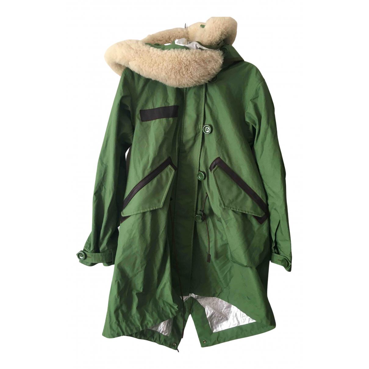 Coach - Manteau   pour femme en coton - vert