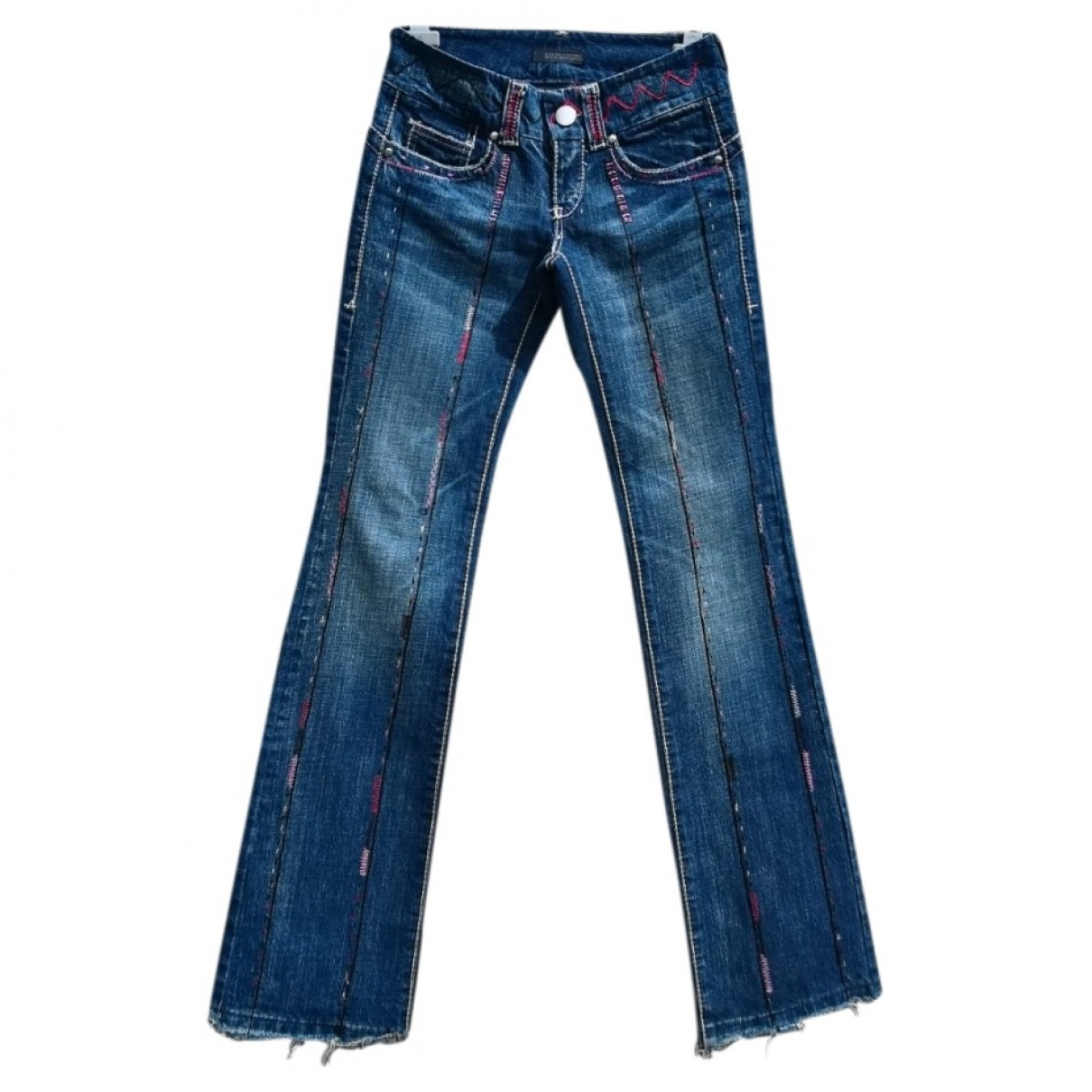 Ermanno Scervino \N Blue Cotton Jeans for Women 34 FR