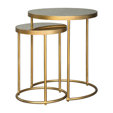 Signature Design by Ashley Majaci 2-Piece End Table, One Size , Yellow