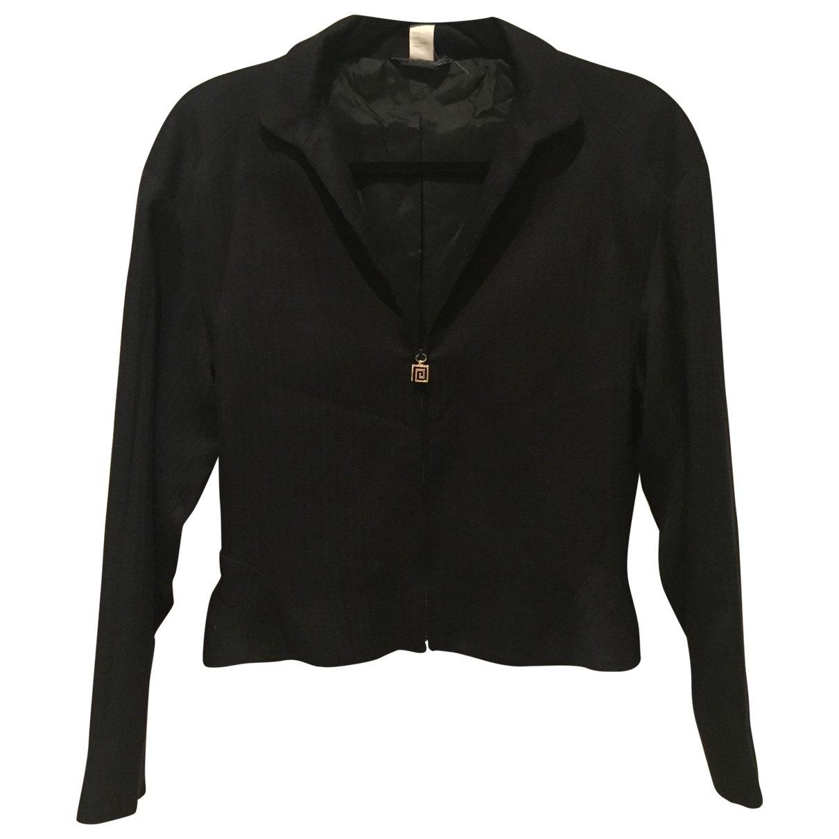 Gianni Versace - Veste   pour femme en soie - noir