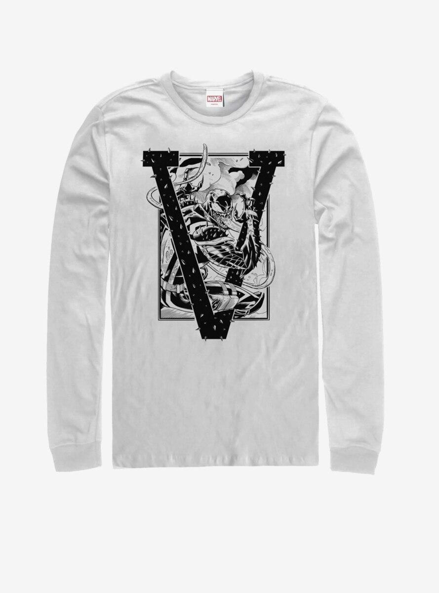 Marvel Venom V is for Venom Long-Sleeve T-Shirt